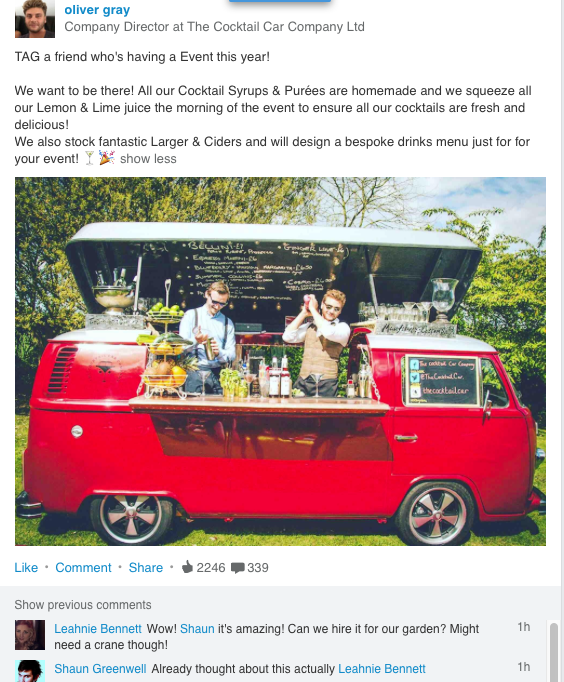 This is an inspired use of Social Selling. It'll have you wanting to 'like' the Screen Shot