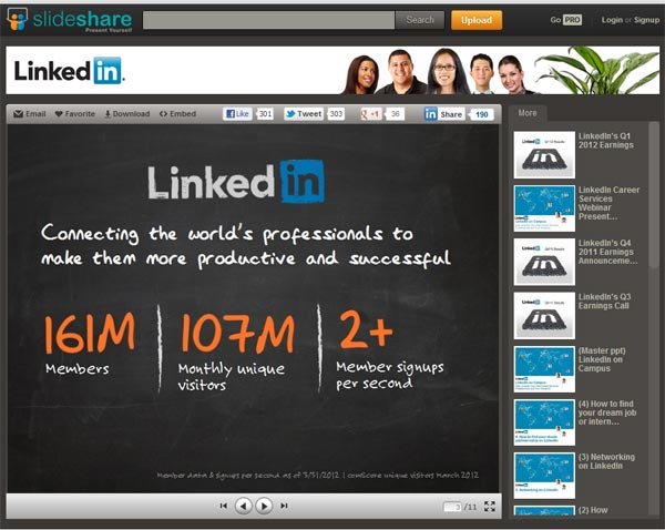 Slideshare connects with LinkedIn- just be careful
