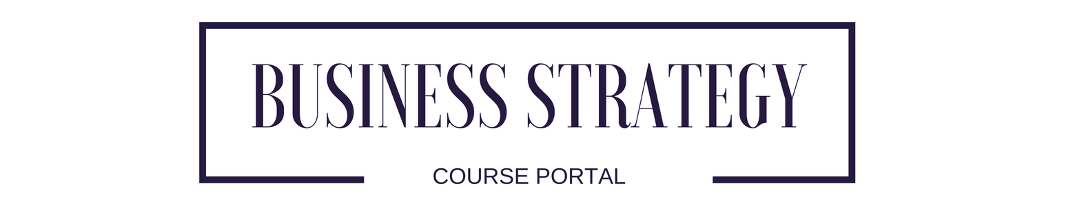 Business Strategy Course Portal 2019