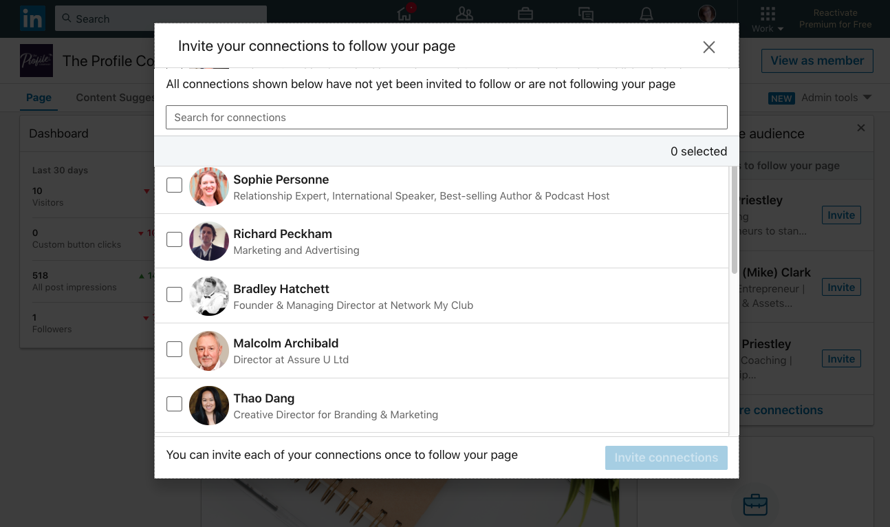 Invite people to follow your LinkedIn Company Pages