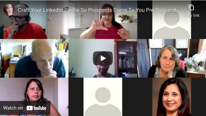 Masterclass:  How to Craft a LinkedIn Profile so Prospects Come to You Pres-Sold and Ready to Buy