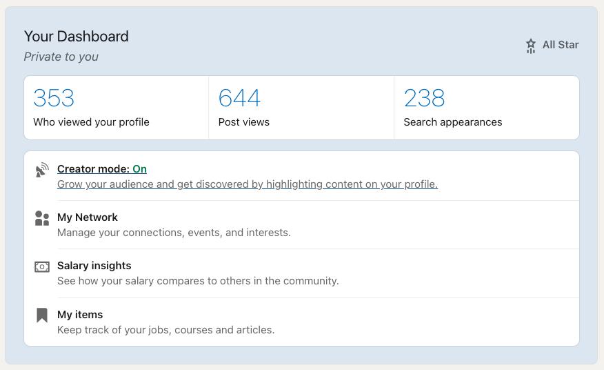 LinkedIn Introduces Creator Mode for Profiles